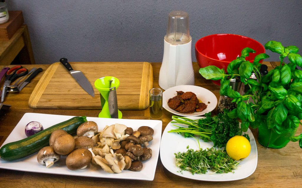 Zutaten Pilzsalat