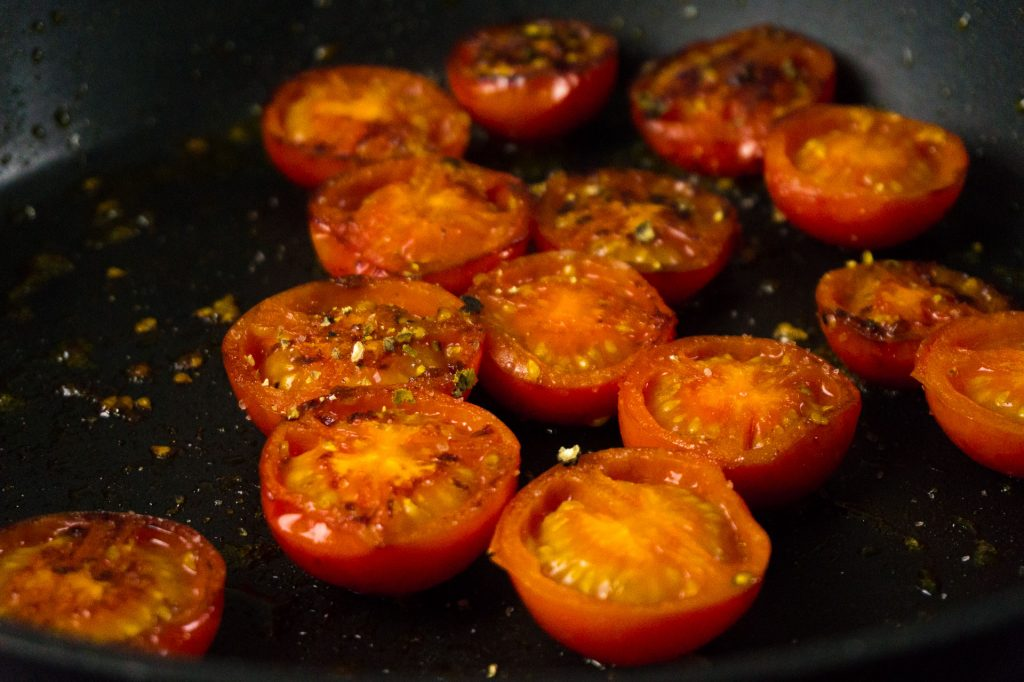Geschmolzene Tomaten.