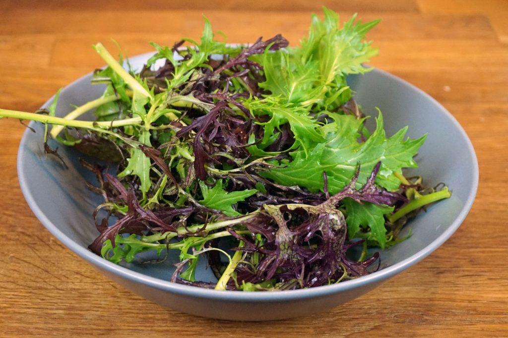 Der asiatische Blattsalat.