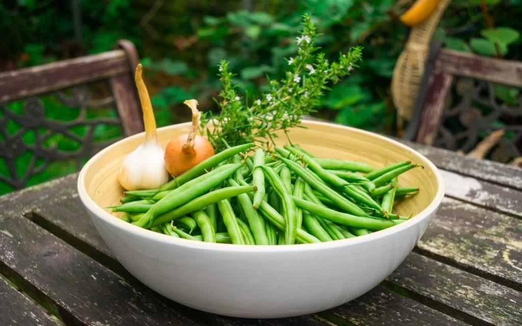 Grüne Bohnen vom Markt