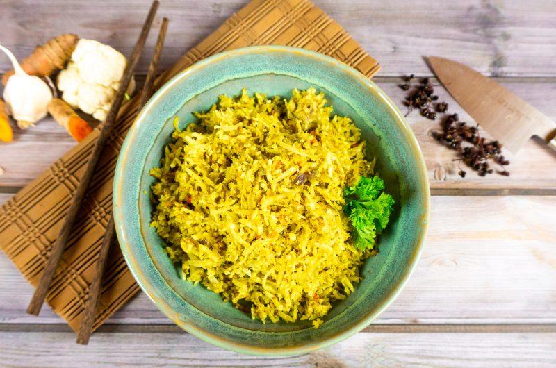 Gebratenen Blumenkohl-Reis | Low Carb