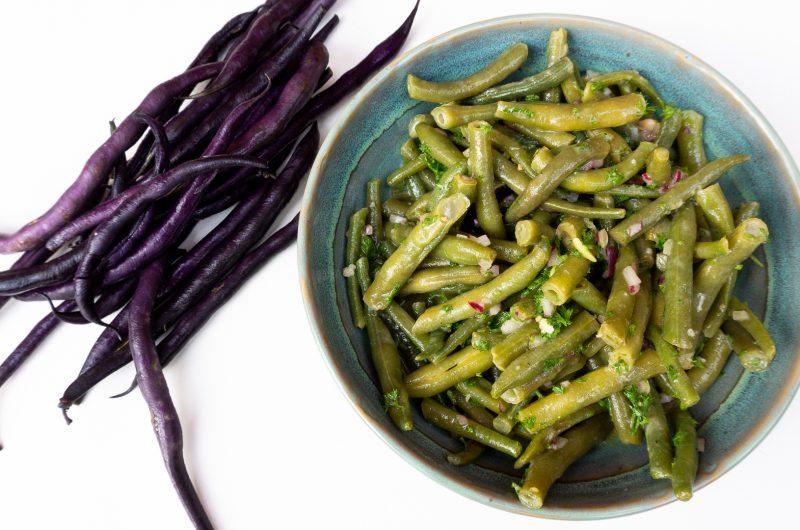 Bohnensalat aus frischen Bohnen